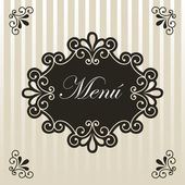 Menu design — Stock Vector