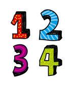 Numbers design — Stock Vector