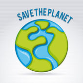 Planet kaydet — Stok Vektör