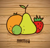 Fruits design  — Stock Vector