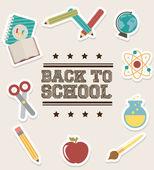 School ontwerp — Stockvector