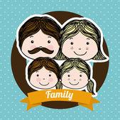Aile tasarım — Stok Vektör