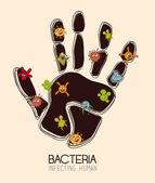Bacteria design — Stockvektor