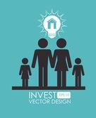 Invest design — Stock Vector