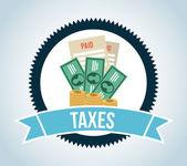 Tax design  — Stok Vektör
