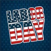 Labor day design — Vettoriale Stock