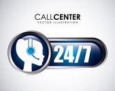 Call center design — Stock Vector