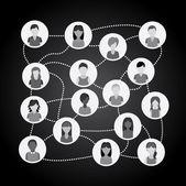 Teamwork design   — Stock Vector