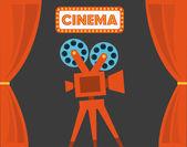 Дизайн кино — Cтоковый вектор