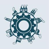Design industriale — Vettoriale Stock