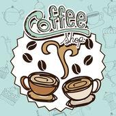Progettazione di caffè — Vettoriale Stock