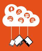 Nuvens de computação — Vetorial Stock