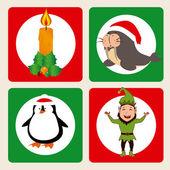 Diseño de la feliz navidad — Vector de stock