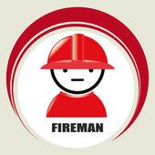Fireman design — 图库矢量图片