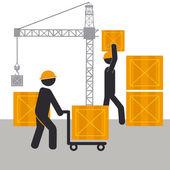 Construction design — Stock Vector