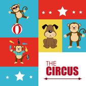 Progettazione del circo — Vettoriale Stock
