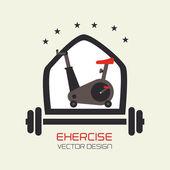 Fitness design — Stock Vector