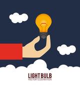 Design lampadina — Vettoriale Stock