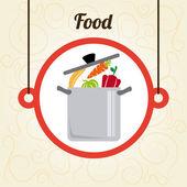 Progettazione di cibo — Vettoriale Stock