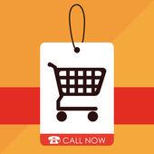 Progettazione dello shopping — Vettoriale Stock