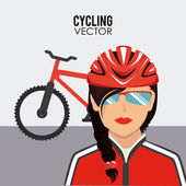 骑自行车设计 — 图库矢量图片