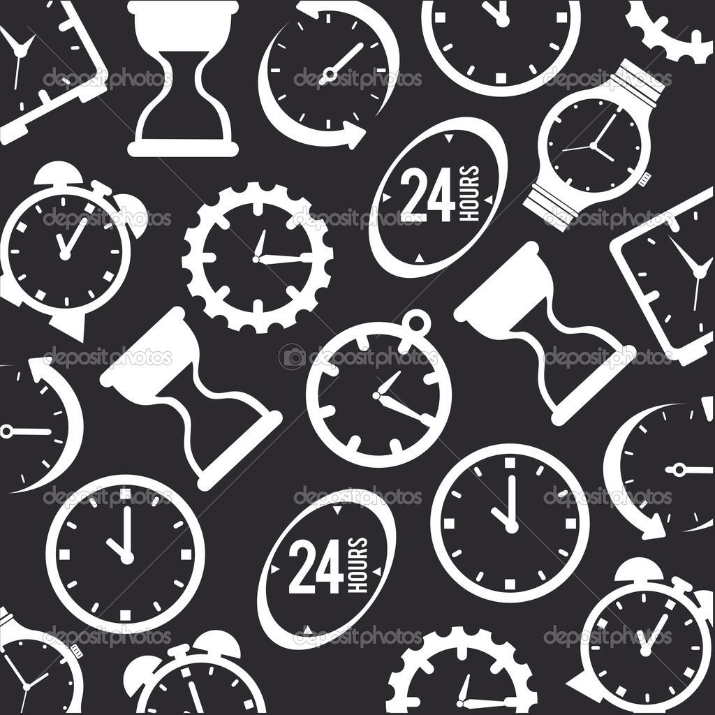 在灰色的背景,矢量图的时间设计