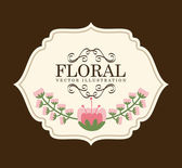 Flowers desin — Stock Vector