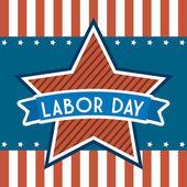 Labor day — Vettoriale Stock