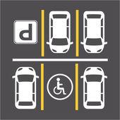 Signaux de stationnement — Vecteur