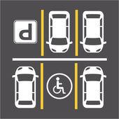 Señal de aparcamiento — Vector de stock