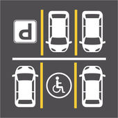 Parking signal  — Stock Vector