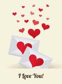 Love design mail — Stock Vector