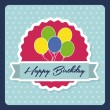Birthday design card — Stock Vector #50762191