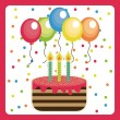 Birthday design card — Stock Vector #50770241