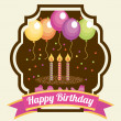 Birthday design card — Stock Vector #50771041