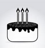 Birthday cake design — Stock Vector