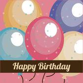Birthday design card — Vector de stock