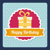 Birthday design card — Stock Vector