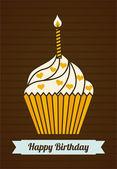 Birthday design cupcake — Stock Vector