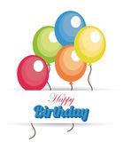 Birthday design with balloons — Stock Vector