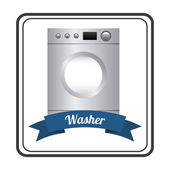 Appliances design washer — Stock Vector