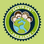 Dag van de aarde van het milieuvriendelijk ontwerpen — Stockvector