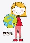 Environmental design earth — Stock Vector