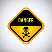 Caution label — Stock Vector