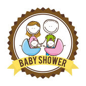 Baby design baby shower — Stock Vector