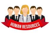 Mänskliga resurser — Stockvektor