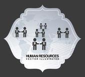 Menselijke hulpbronnen — Stockvector