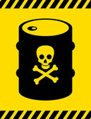 Caution label with skull — Stock Vector