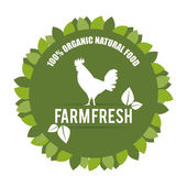 Natural design farm fresh — Stock Vector