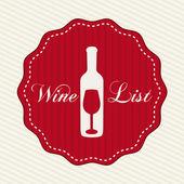 Design vin — Vecteur